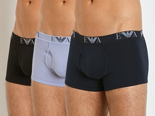 Emporio Armani Genuine Cotton 3-Pack Trunk Marine/Periwinkle/Bla