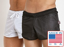 Cell Block 13 Reversible Mesh Beer Bust Shorts Black/White