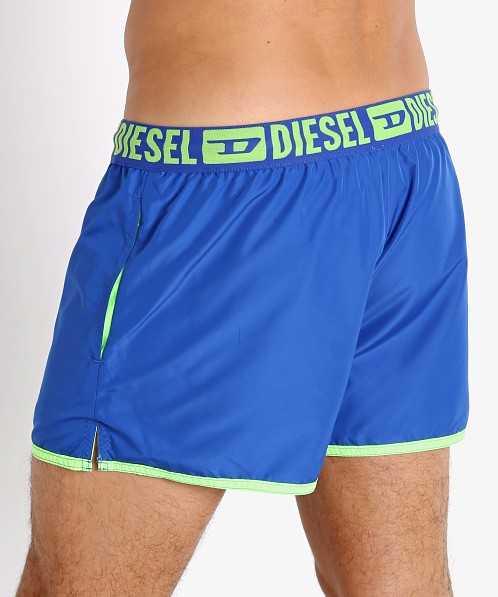 Diesel Sandy Reversible Swim Shorts Neon Green/Blue
