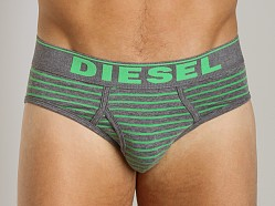 Diesel Fresh & Bright Striped Blade Brief Green