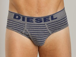 Diesel Fresh & Bright Striped Blade Brief Blue
