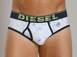 Diesel All Over Print Blade Brief White