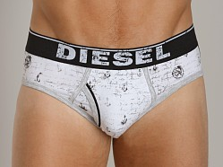 Diesel All Over Print Blade Brief Grey