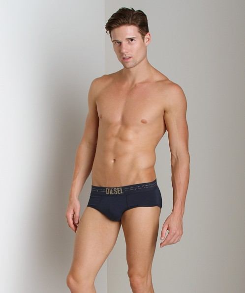Diesel Dot Line Rico Brief Navy