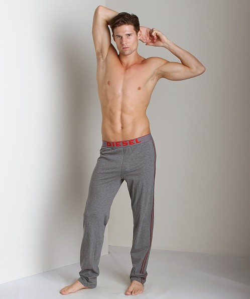 Diesel Adonis Cotton Jersey Lounge Pants Charcoal