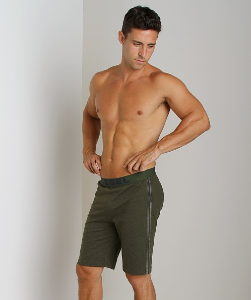 Diesel Hans Cotton Jersey Lounge Shorts Green