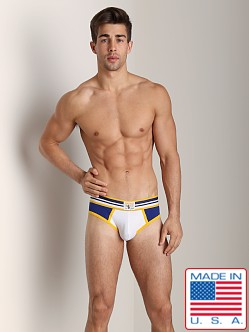 Timoteo Rugby Backless Brief Blue/White
