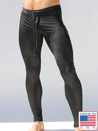 Rufskin Ricky Mesh Compression Leggings Black