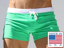Rufskin River Draw Cord Swim Trunks Green