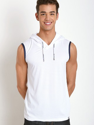Pump! Beach Hooded Mesh Tank White