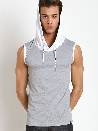Pump! Beach Hooded Mesh Tank Grey
