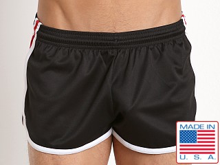 Pistol Pete Wrestler Poly Pique Dry Fit Short Black/Red