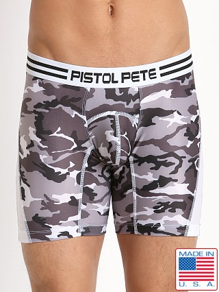 Pistol Pete Commando Compression Short White Camouflage