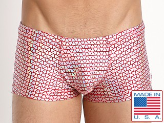 Pistol Pete Venetian Swim Trunk w/Pouch Red