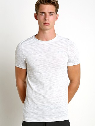 Under Armour Threadborne Seamless Crew Neck Tee White/Grey