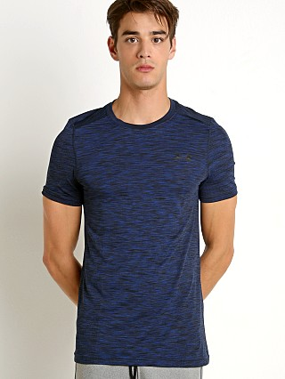 Under Armour Threadborne Seamless Crew Neck Tee Royal/Black
