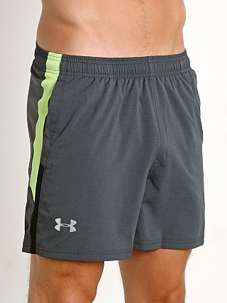 "Under Armour Launch 5"" Reflective Running Short Black/Lime"