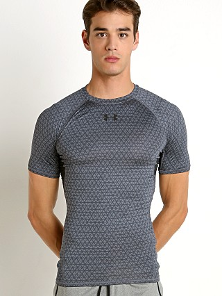 Under Armour Heatgear Rattlesnake Compression Tee Grey/Black