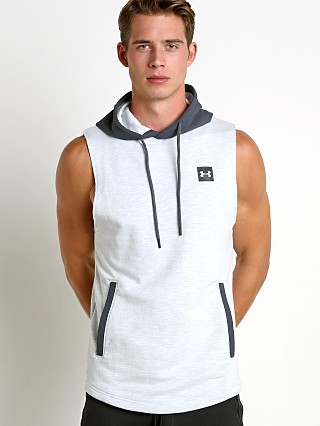 Under Armour Sportstyle Sleeveless Hoodie White/Grey