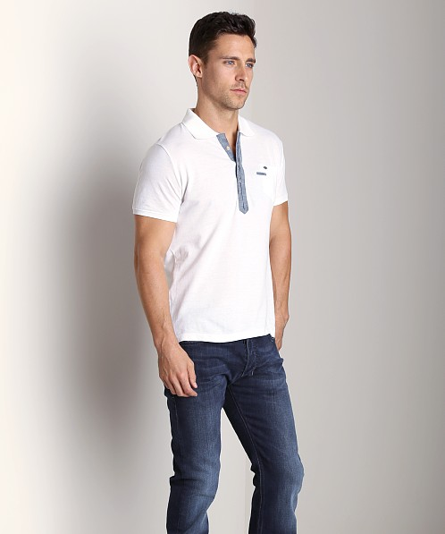 Diesel T-Admiral Polo Shirt White