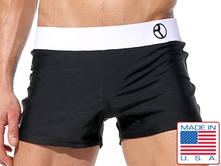 Rufskin Walker Contrast Swim Trunk Black/White