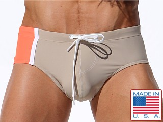 Rufskin Ezio Paneled Swim Brief Chino/Highlighter