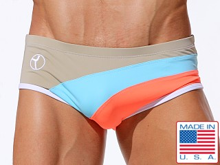 Rufskin Napolitano Swim Sunga Chino/Aqua/Highlighter