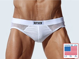 Rufskin Amir Flesh Mesh Brief White