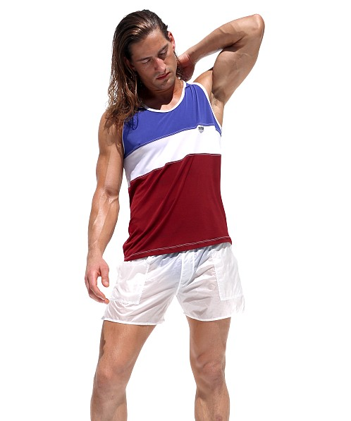 Rufskin Judo Contrast Color Tank Top Royal/White/Burgundy