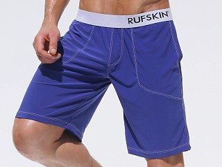 Rufskin Mudra Stretch Jersey Yoga Shorts Royal