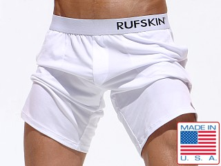 Rufskin Mudra Stretch Jersey Yoga Shorts White