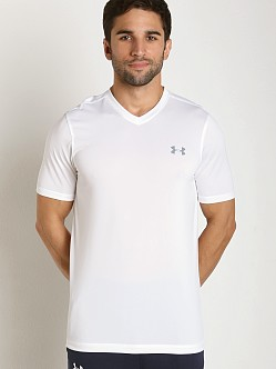 Under Armour Tech V-Neck Shortsleeve Tee White