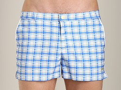 Parke and Ronen Angeleno Print Swim Short Cyrus Blue