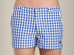 Parke and Ronen Angeleno Check Swim Short Blue Gingham