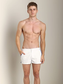 Parke and Ronen Angeleno Solid Swim Short Houston White