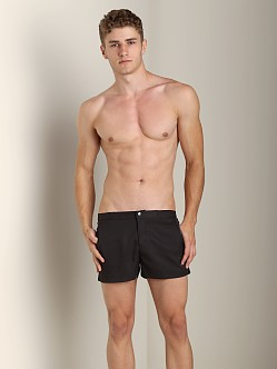 Parke and Ronen Angeleno Solid Swim Short Houston Black