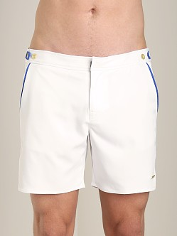 Parke and Ronen Catalonia Solid Swim Short Houston White