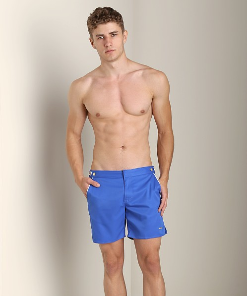 Parke and Ronen Catalonia Solid Swim Short Houston Royal
