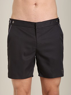 Parke and Ronen Catalonia Solid Swim Short Houston Black