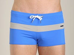 Parke and Ronen Ibiza Color Block Swim Trunk Royal/Silver