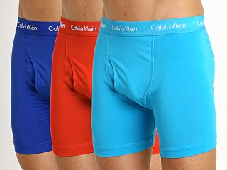 Calvin Klein Cotton Stretch Boxer Brief 3-Pack Prussian/Orange
