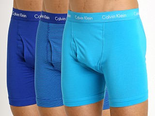 Calvin Klein Cotton Stretch Boxer Brief 3-Pack Prussian/Paradise