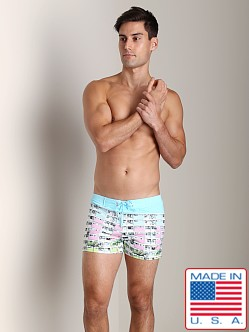 Sauvage Tropical Swim Trunk South Beach Print