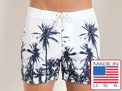 Sauvage Palms Surf Shorts White