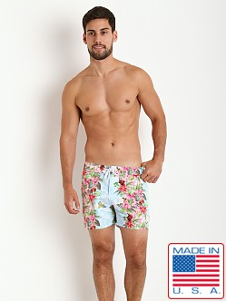 Sauvage Italian Nylon Tropical Board Shorts Jungle Print