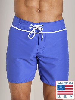 Sauvage San Diego Slim Fit Board Short Royal