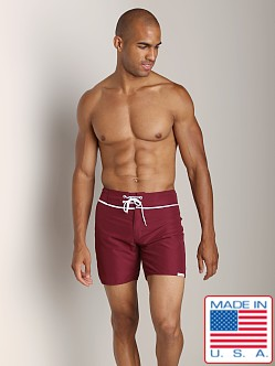 Sauvage San Diego Slim Fit Board Short Burgundy