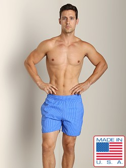 Sauvage Seersucker Nylon Euro Beach Short Royal