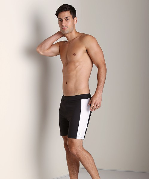 Sauvage Lined Performance Shorts Black/White