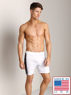 Sauvage Lined Performance Shorts White/Grey